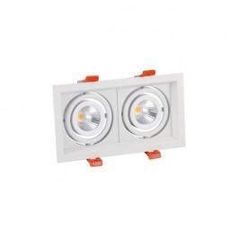 Plafonnier rectangulaire LED 2X15W