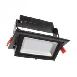 Projecteur LED rectangulaire pour magasin- 50W Noir