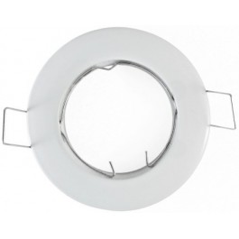 Support spot encastrable 92mm rond orientable blanc