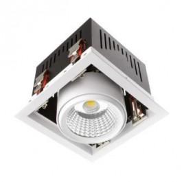 Encastrés de plafond-Blanc-Carrés - 30W