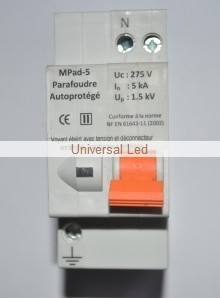 Parafoudre Disjoncteur modulaire type II