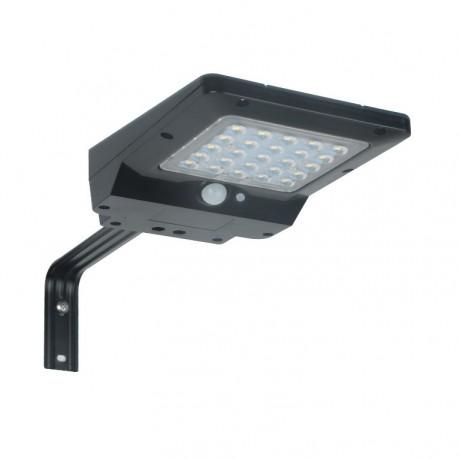 applique LED solaire-4w NOIRE