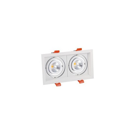 Plafonnier rectangulaire LED 2X15W