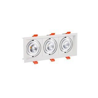 Encastré LED 3 spots 3X10W