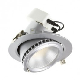 Spot escamotable LED gris plafond 40W