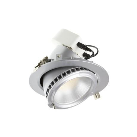 Spot escamotable LED gris plafond 40W
