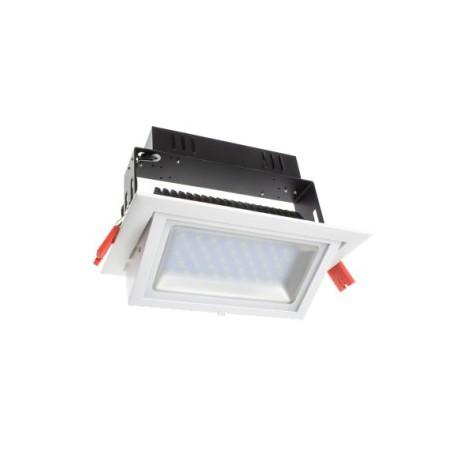 Encastré rectangle blanc LED 50W - SAMSUNG PRO