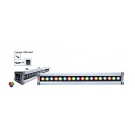 Rampe LED 20W 60cm RGB DMX pour éclairage architectural