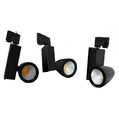 Spot LED professionnel magasin sur rail noir
