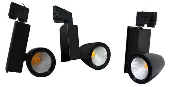 Spot sur rail LED 40W Haute puissance