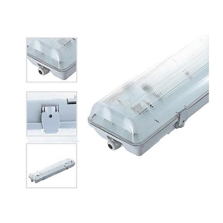 Réglette double 150cm étanche pour 2 tubes LED