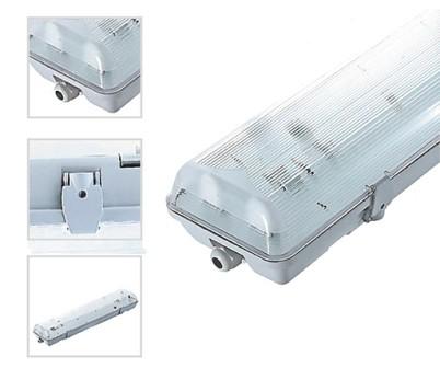 Réglette double 120cm étanche pour tubes LED