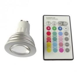 GU10 LED RGB 3W avec télécommande