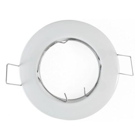 Support spot encastrable 92mm rond orientable blanc