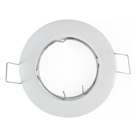 Support spot encastrable blanc fixe 77mm - percage 65mm