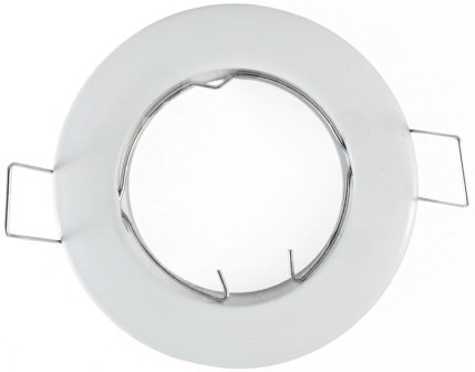 Support spot 77mm rond blanc - perçage 62mm
