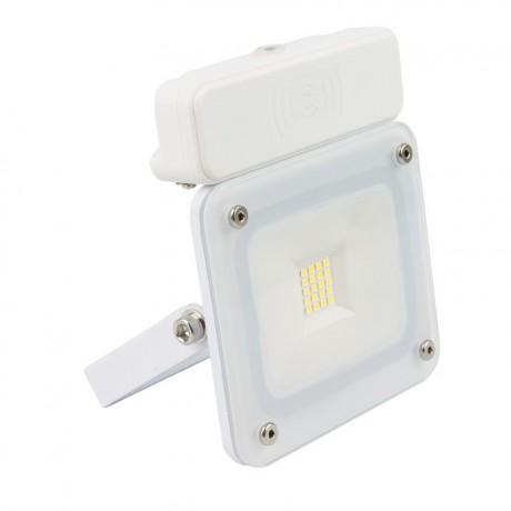 Projecteur Led 10 design blanc 10W detecteur