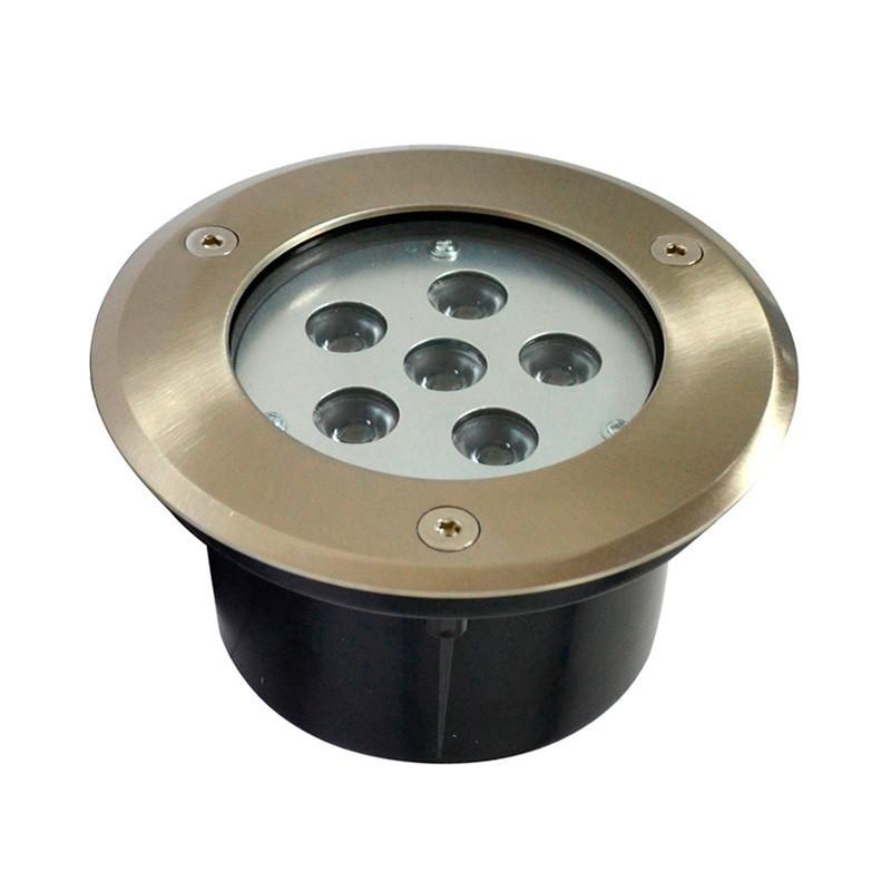 Encastré de sol LED inox 6W rond