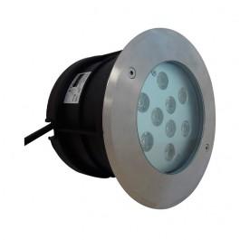 Encastré de sol LED inox 10W rond